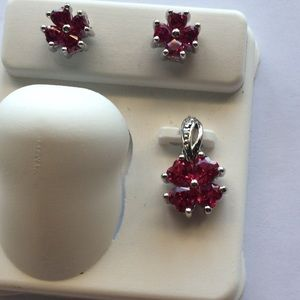 COPY - Created Ruby And Pendant set